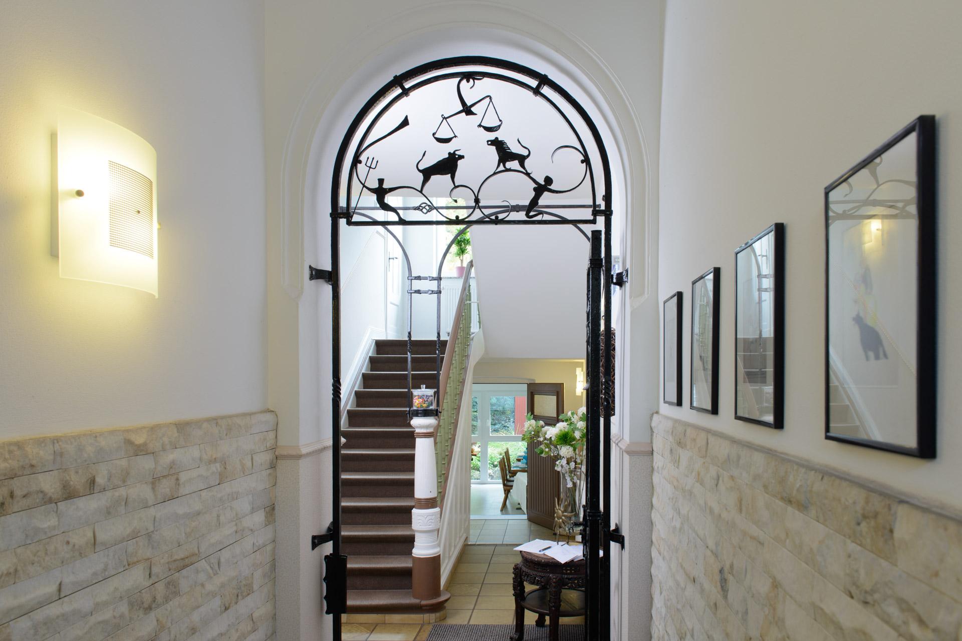 Der Eingangsbereich unseres Hotels in Oberhausen