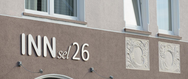 Aussenansicht des Stadthauses Hotel INNsel26